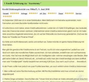Auf kredit-erfahrungen.com können Sie Erfahrungsberichte und Bewertungen der anderen Leser lesen, sowie die eigen Meinung selbst äußern
