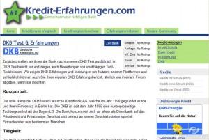 Auf kredit-erfahrungen.com können Sie mehr über die DKB Bank und ihr Kreditangebot lesen, sowie einen eigenen Erfahrungsbericht erstellen